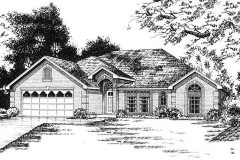 Traditional Exterior - Front Elevation Plan #40-242 - Houseplans.com