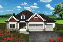 Dream House Plan - Traditional Exterior - Front Elevation Plan #70-1078