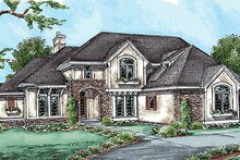 House Plan Design - European Exterior - Front Elevation Plan #20-1816