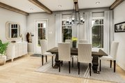 Country Style House Plan - 3 Beds 2 Baths 1936 Sq/Ft Plan #406-9659 Interior - Dining Room