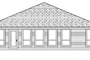 Traditional Style House Plan - 3 Beds 2 Baths 1654 Sq/Ft Plan #84-332 Exterior - Rear Elevation