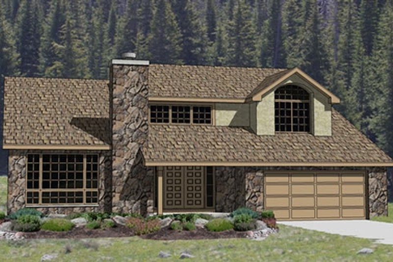 Traditional Style House Plan - 3 Beds 2.5 Baths 2434 Sq/Ft Plan #116-214 Exterior - Front Elevation