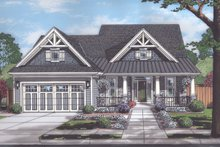 Home Plan - European Exterior - Front Elevation Plan #46-889