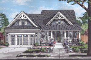European Exterior - Front Elevation Plan #46-889