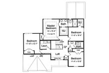 Traditional Floor Plan - Upper Floor Plan Plan #46-492