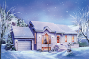 Ranch Style House Plan - 2 Beds 1 Baths 1145 Sq/Ft Plan #25-1122 Exterior - Front Elevation