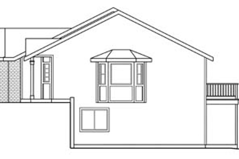Traditional Exterior - Other Elevation Plan #124-678 - Houseplans.com