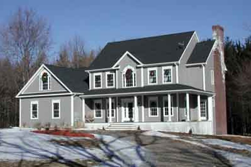 Country Style House Plan - 4 Beds 3.5 Baths 3609 Sq/Ft Plan #75-189 Exterior - Front Elevation