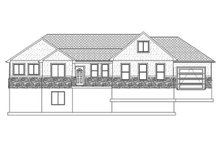 Architectural House Design - Ranch Exterior - Front Elevation Plan #1060-2