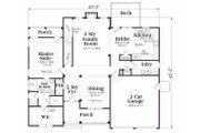 Traditional Style House Plan - 3 Beds 2.5 Baths 2276 Sq/Ft Plan #419-118 Floor Plan - Main Floor Plan