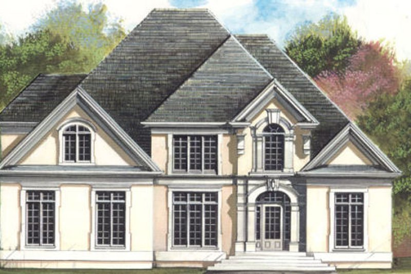 European Exterior - Front Elevation Plan #119-307