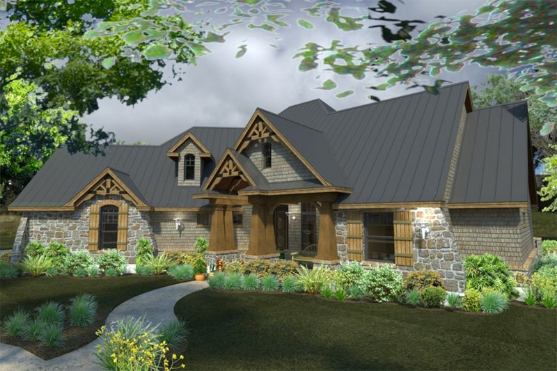 Craftsman Exterior - Front Elevation Plan #120-172 - Houseplans.com