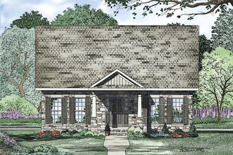 Traditional Exterior - Other Elevation Plan #17-2420 - Houseplans.com