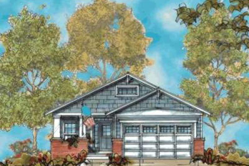 Architectural House Design - Craftsman Exterior - Front Elevation Plan #20-1747