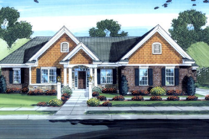 Traditional Exterior - Front Elevation Plan #46-451 - Houseplans.com