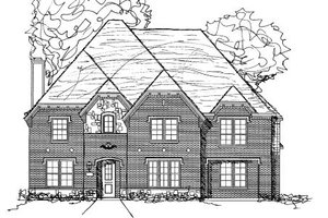 European Exterior - Front Elevation Plan #141-306