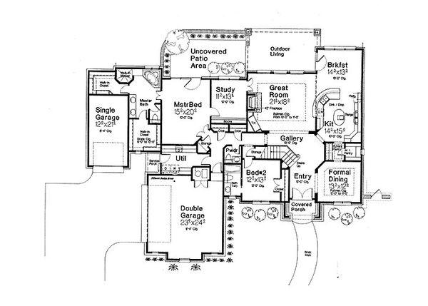 European Floor Plan - Main Floor Plan #310-697