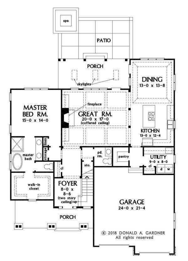 Country Floor Plan - Main Floor Plan #929-1075