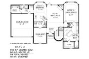 Traditional Style House Plan - 3 Beds 2.5 Baths 2550 Sq/Ft Plan #424-414 Floor Plan - Main Floor Plan