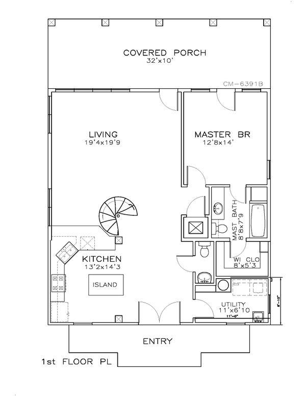 Beach Floor Plan - Main Floor Plan Plan #8-311