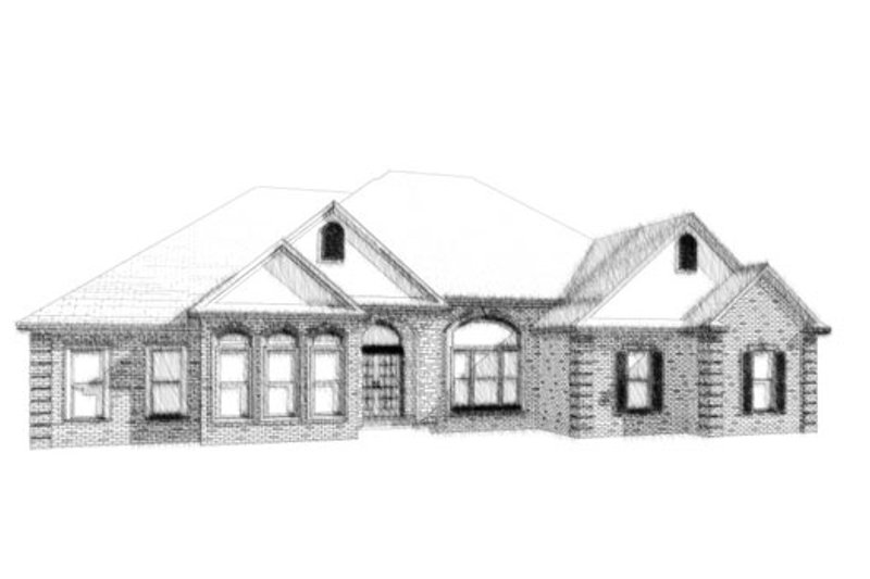 Traditional Style House Plan - 4 Beds 3.5 Baths 2511 Sq/Ft Plan #63-327 Exterior - Front Elevation