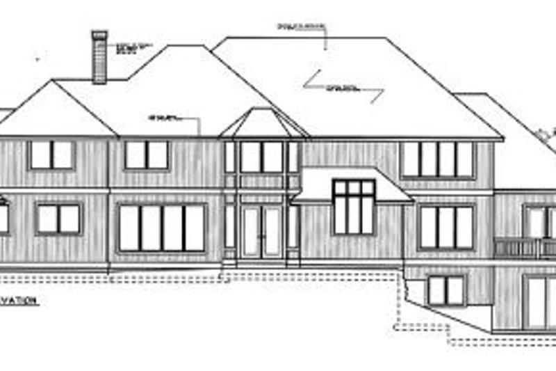 European Exterior - Rear Elevation Plan #97-214 - Houseplans.com