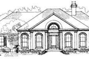 Southern Exterior - Front Elevation Plan #325-194
