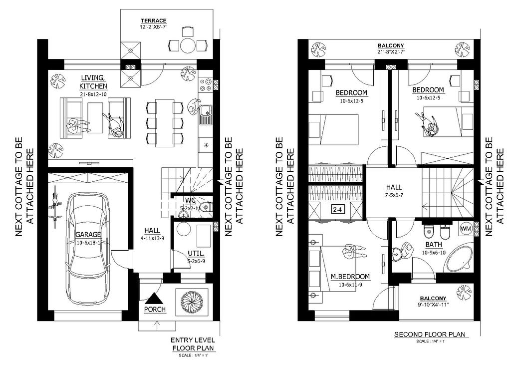 Modern Style House Plan - 3 Beds 1.5 Baths 952 Sq/Ft Plan #538-1 on duplex floor plans, row house kitchen ideas, row house windows, farmhouse floor plans, row house design, row house garage, historic row house plans, single family residence floor plans, row house plans narrow lots, simple floor plans, row house architectural drawings, pud floor plans, villa floor plans, saltbox floor plans, row house history, one story bungalow floor plans, row houses in conway ar, houseboat floor plans, row house communities, brownstone floor plans,