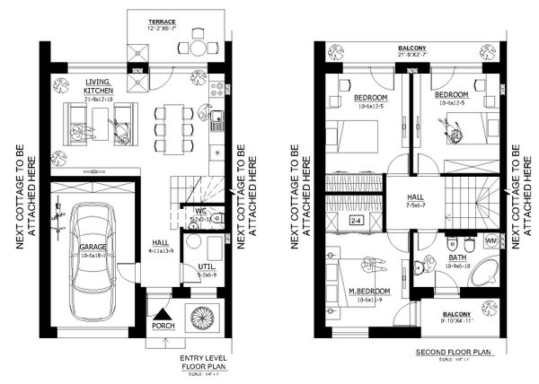 Modern Floor Plan - Main Floor Plan Plan #538-1