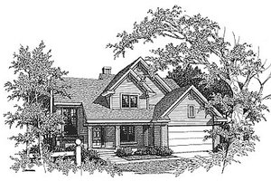 Traditional Exterior - Front Elevation Plan #70-285