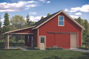 Ranch Exterior - Front Elevation Plan #124-1132