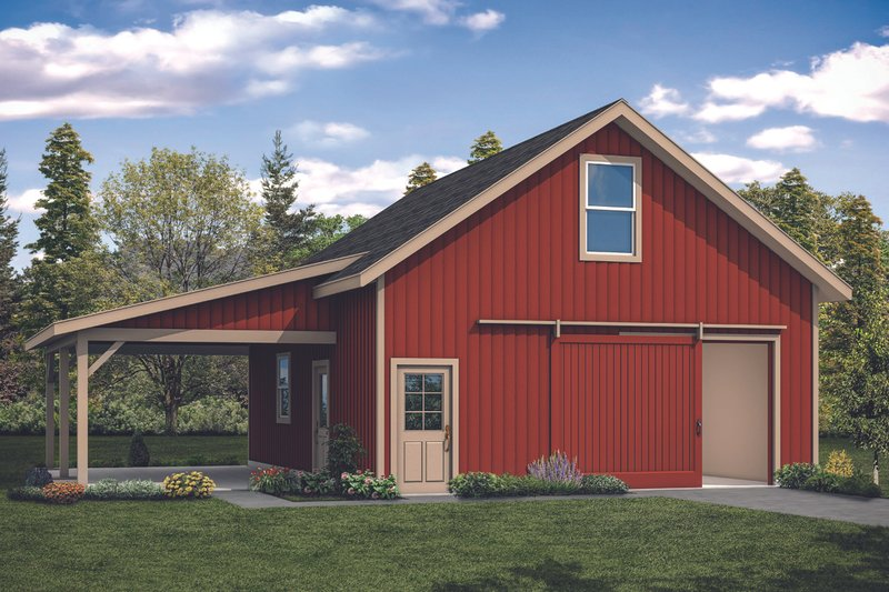 Ranch Style House Plan - 0 Beds 0 Baths 1251 Sq/Ft Plan #124-1132 Exterior - Front Elevation