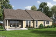 Craftsman Style House Plan - 3 Beds 2 Baths 2001 Sq/Ft Plan #48-104 Exterior - Rear Elevation