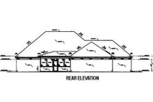 Southern Exterior - Rear Elevation Plan #36-195