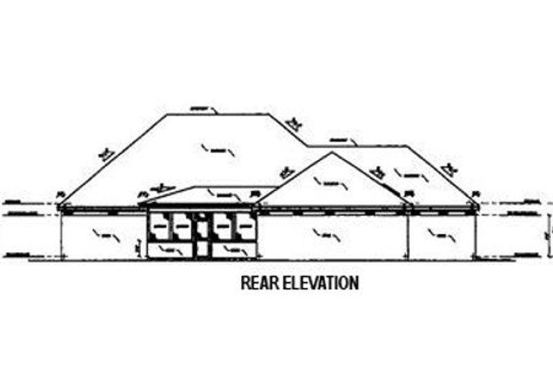 Southern Exterior - Rear Elevation Plan #36-195 - Houseplans.com