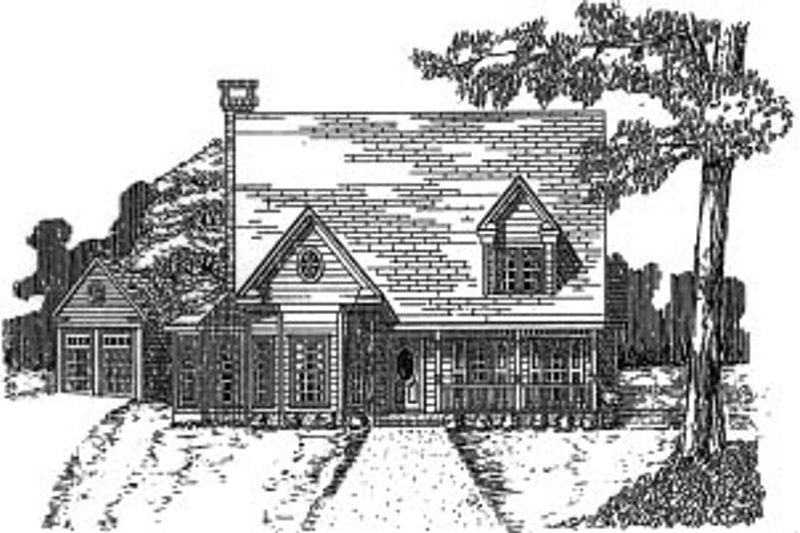 Country Exterior - Front Elevation Plan #37-190