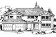 European Style House Plan - 3 Beds 2 Baths 2083 Sq/Ft Plan #18-9031 Exterior - Front Elevation
