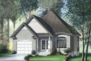 Traditional Style House Plan - 2 Beds 2 Baths 1100 Sq/Ft Plan #25-126