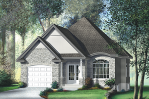 Traditional Exterior - Front Elevation Plan #25-126