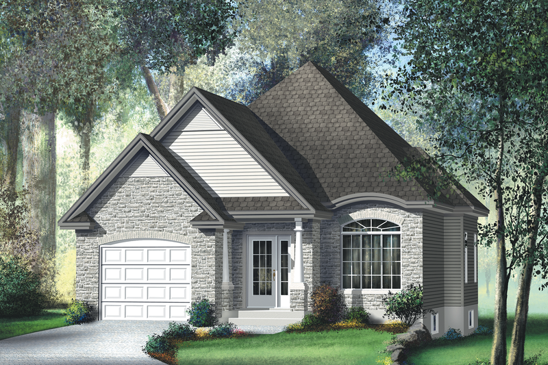 Traditional Style House Plan - 2 Beds 2 Baths 1100 Sq/Ft Plan #25-126 Exterior - Front Elevation