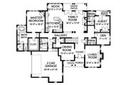 Traditional Style House Plan - 5 Beds 4.5 Baths 4619 Sq/Ft Plan #490-10 Floor Plan - Main Floor Plan