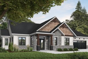Ranch Exterior - Front Elevation Plan #23-2658