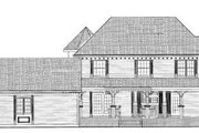 Victorian Style House Plan - 4 Beds 2.5 Baths 2174 Sq/Ft Plan #72-137 Exterior - Rear Elevation