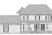 Victorian Exterior - Rear Elevation Plan #72-137