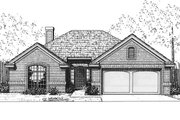 Traditional Style House Plan - 3 Beds 2 Baths 1239 Sq/Ft Plan #310-562 Exterior - Front Elevation