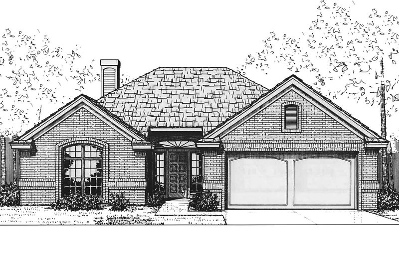 Traditional Exterior - Front Elevation Plan #310-562 - Houseplans.com