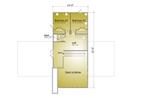 Modern Floor Plan - Upper Floor Plan #910-1