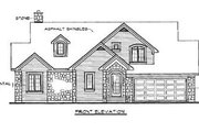 Traditional Style House Plan - 4 Beds 2 Baths 2037 Sq/Ft Plan #23-254 Exterior - Rear Elevation