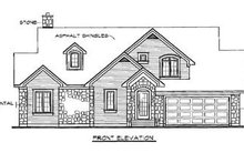 House Design - Traditional Exterior - Rear Elevation Plan #23-254