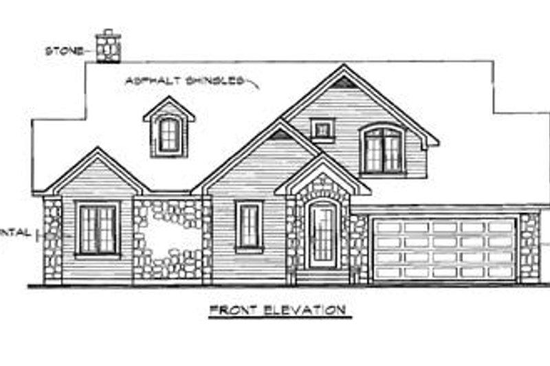 Traditional Exterior - Rear Elevation Plan #23-254 - Houseplans.com